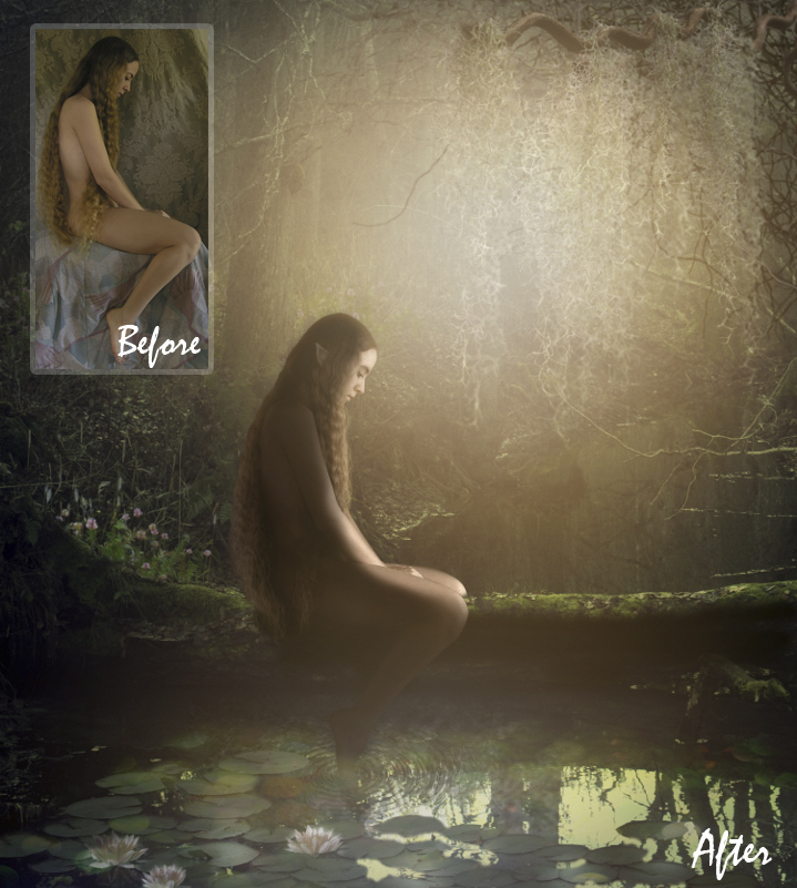 Fantasy Portrait - Before & After